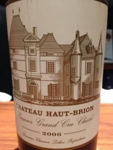 【赤】Ch. Haut-Brion 2006