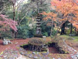 供養塔の紅葉