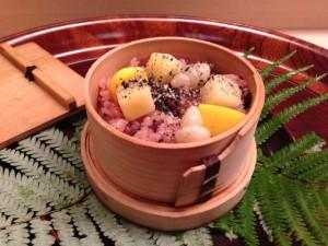 【中皿】栗赤飯