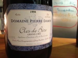【赤】Domaine Pierre Damoy Clos de Beze 1998