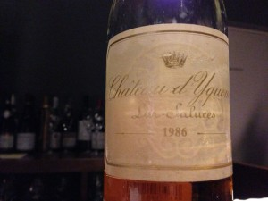 Ch.d'Yquem 1986