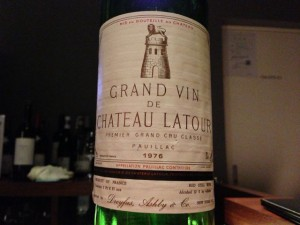 【赤】Grand Vin de Ch.Latour 1976