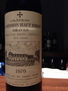 【赤】Ch.La Mission Haut-Brion 1976