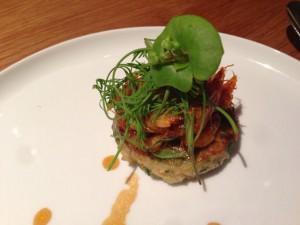 黄ハタのポワレ 筍と山菜のガレット