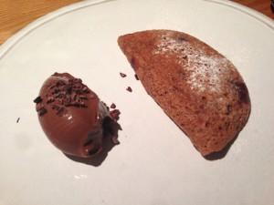 チョコレートのスフレ Point風