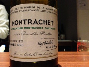 【白】D.R.C. Montrachet 1998