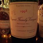 【赤】Bryant Family Vineyard Cabernet Sauvignon Napa Valley 1992