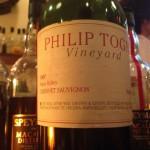 【赤】Philip Togni Vineyard Cabernet Sauvignon Napa Valley 1990