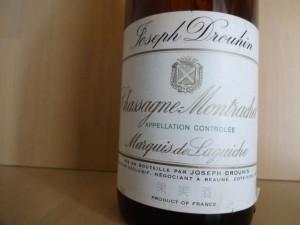 【白】Maison Joseph Drouhin Chassagne Montrachet 1er Cru Marquis de Laguiche 1988