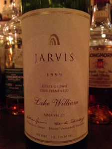 【赤】JARVIS Cave Fermented Lake William Napa Valley 1999