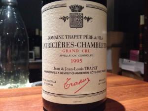 【赤】Domaine Trapet Pere&Fils Latriceres-Chambertin Grand Cru 1995