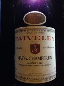 【赤】Domaine FAIVELEY Mazis-Chambertin 1988