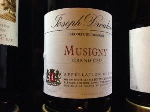 【赤】Joseph Drouhin Musigny 1988