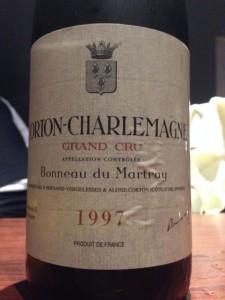 【白】Bonneau du Martray Corton-Charlemagne 1997