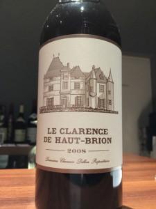 【赤】Le Clarence de Haut-Brion 2008