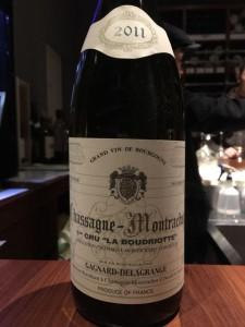 【白】Gagnard-Delagrange Chassagne-Montrachet 1er Cru La Boudriotte 2011