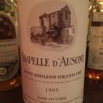 Chapelle D'Ausone 1995