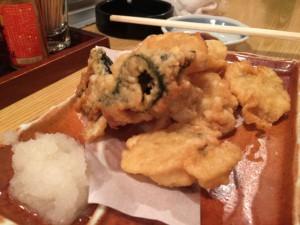 鱧と筍の天ぷら