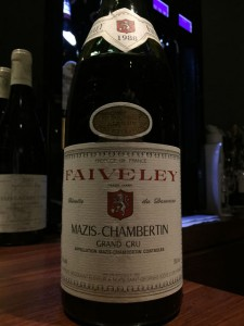 【赤】FAIVELEY Mazis Chambertin 1988