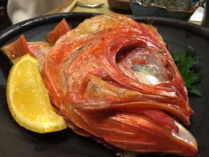 金目鯛のカマ焼き