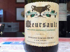 【白】Domaine Coche Dury Meursault 2011