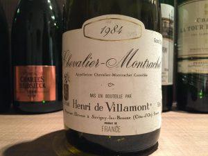 【白】Henri de Villamont Chevalier-Montrachet 1984